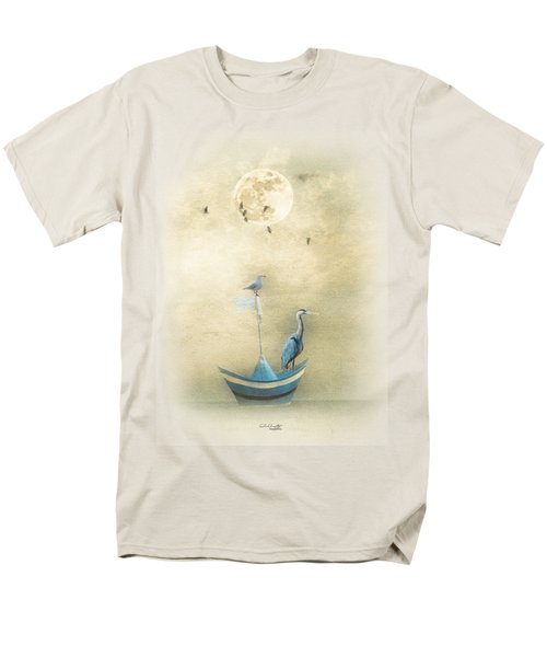 Men's T-Shirt  (Regular Fit) featuring the painting Sailing By The Moon by Chris Armytage