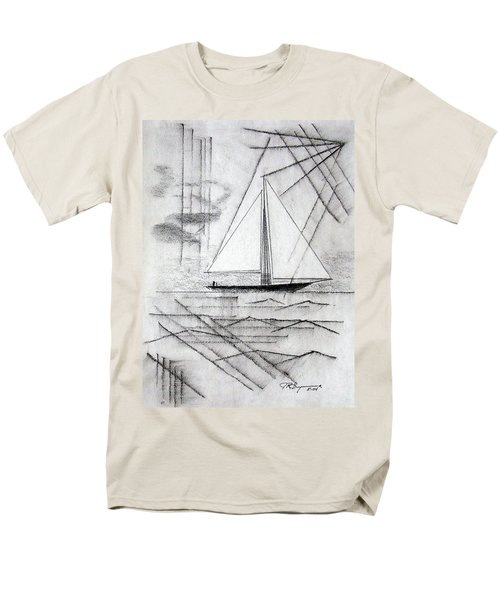 Sailing In The City Harbor Men's T-Shirt  (Regular Fit) by J R Seymour