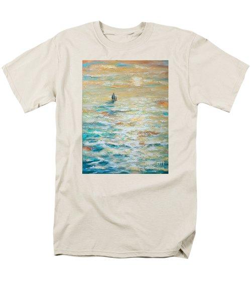 Sailing Into The Sunset Men's T-Shirt  (Regular Fit) by Linda Olsen