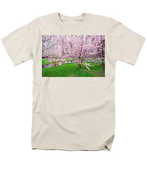 Men's T-Shirt  (Regular Fit) featuring the photograph Sakura Bloom In Keukenhof Garden by Jenny Rainbow