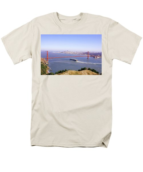 Men's T-Shirt  (Regular Fit) featuring the photograph San Francisco - City By The Bay by Art Block Collections