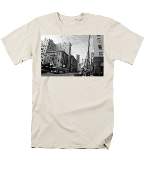 San Francisco - Jessie Street View - Black And White Men's T-Shirt  (Regular Fit) by Matt Harang