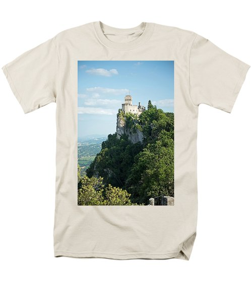 San Marino - Guaita Castle Fortress Men's T-Shirt  (Regular Fit) by Joseph Hendrix