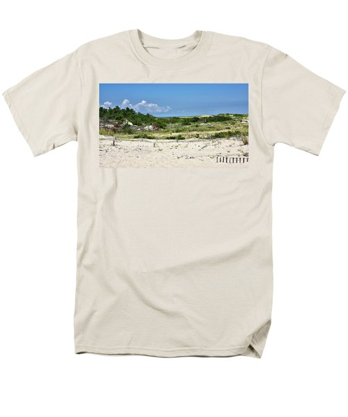 Men's T-Shirt  (Regular Fit) featuring the photograph Sand Dune In Cape Henlopen State Park - Delaware by Brendan Reals