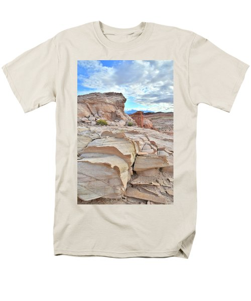 Sandstone Staircase In Valley Of Fire Men's T-Shirt  (Regular Fit) by Ray Mathis