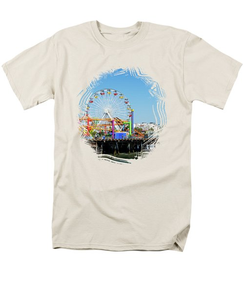 Santa Monica Ferris Wheel Men's T-Shirt  (Regular Fit) by Stefanie Juliette