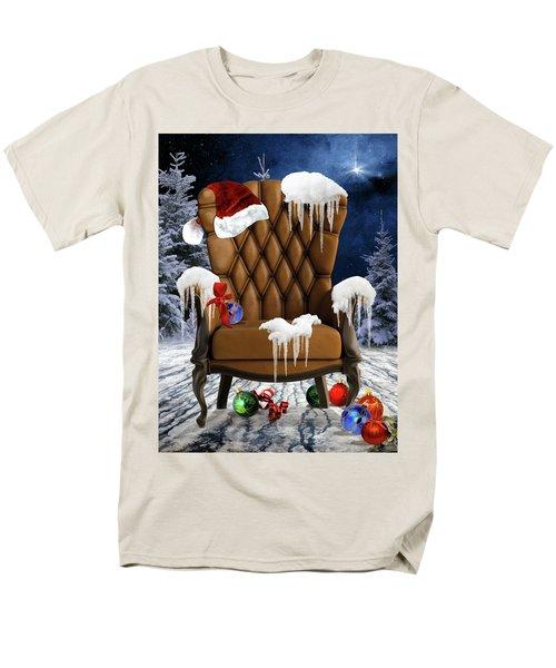 Santa's Chair Men's T-Shirt  (Regular Fit) by Mihaela Pater