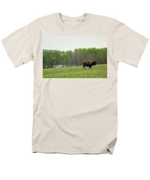 Saskatchewan Buffalo Men's T-Shirt  (Regular Fit) by Ryan Crouse