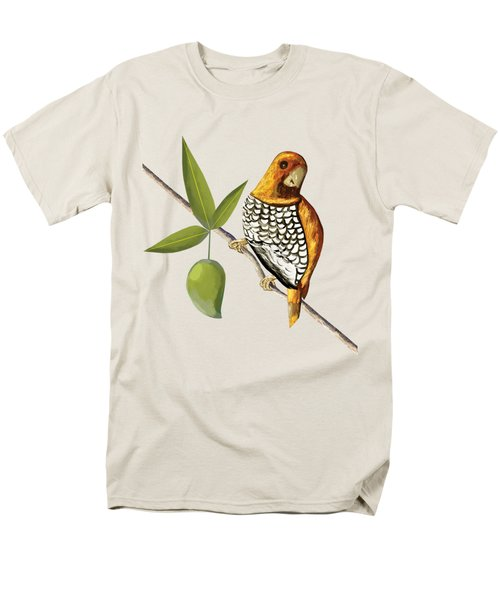 Scaly Breasted Munia D Men's T-Shirt  (Regular Fit) by Thecla Correya