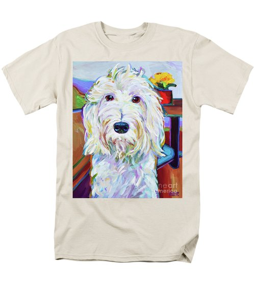 Men's T-Shirt  (Regular Fit) featuring the painting Schnoodle by Robert Phelps