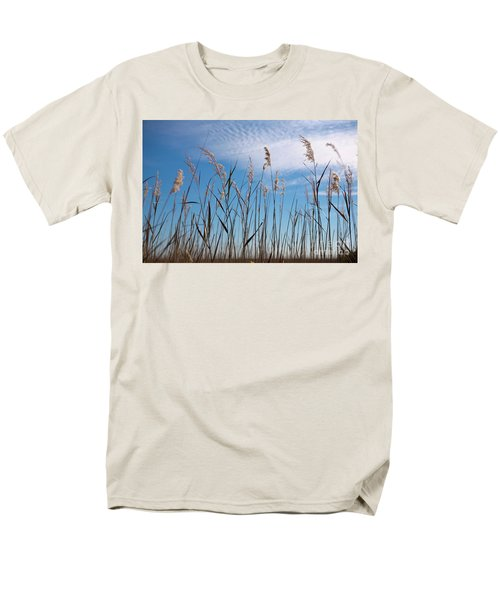 Men's T-Shirt  (Regular Fit) featuring the photograph Sea Oats And Sky On Outer Banks by Dan Carmichael