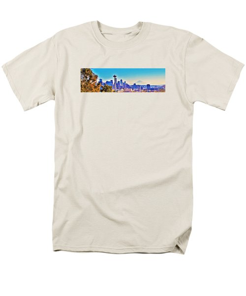 Seattle Sky Men's T-Shirt  (Regular Fit) by Martin Cline