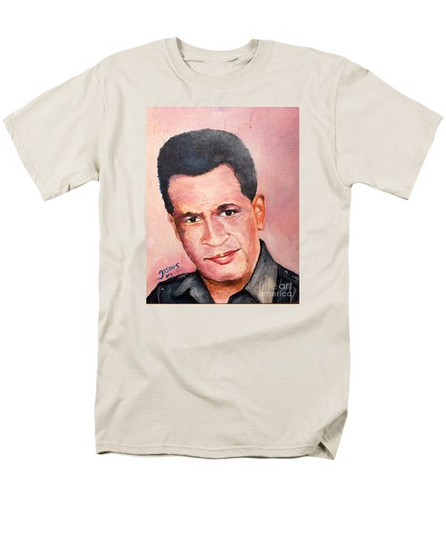 Men's T-Shirt  (Regular Fit) featuring the painting Self Portrait Of Me by Jason Sentuf