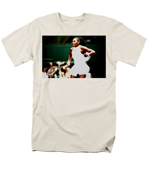 Serena Williams Making History Men's T-Shirt  (Regular Fit) by Brian Reaves