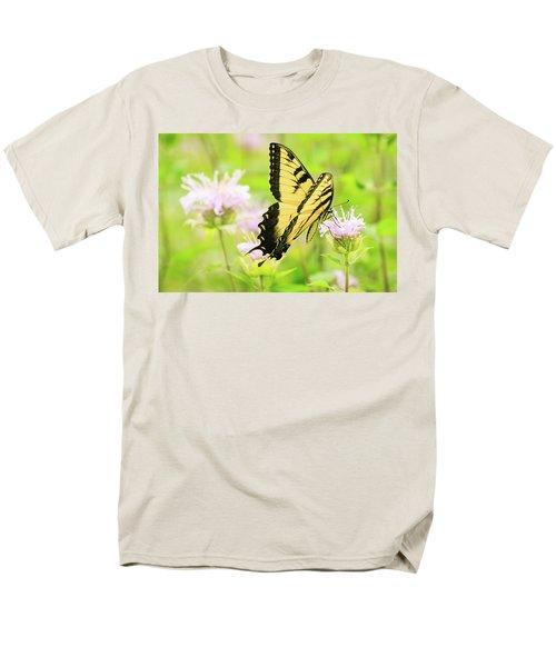 Series Of Yellow Swallowtail #4 Of 6 Men's T-Shirt  (Regular Fit) by Joni Eskridge