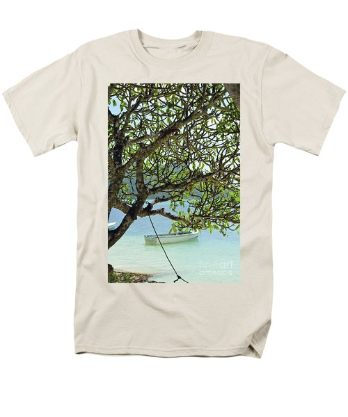 Seychelles Island Men's T-Shirt  (Regular Fit) by Eva Kaufman