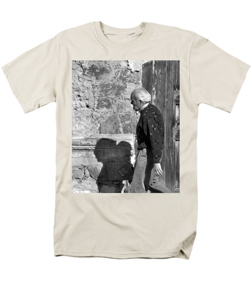 Men's T-Shirt  (Regular Fit) featuring the photograph Shadow Of A Man by Jim Walls PhotoArtist