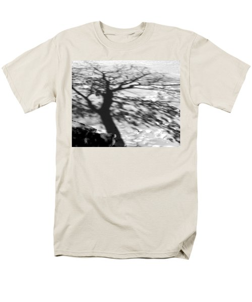 Shadow Tree  Herrick Lake  Naperville Illinois Men's T-Shirt  (Regular Fit) by Michael Bessler
