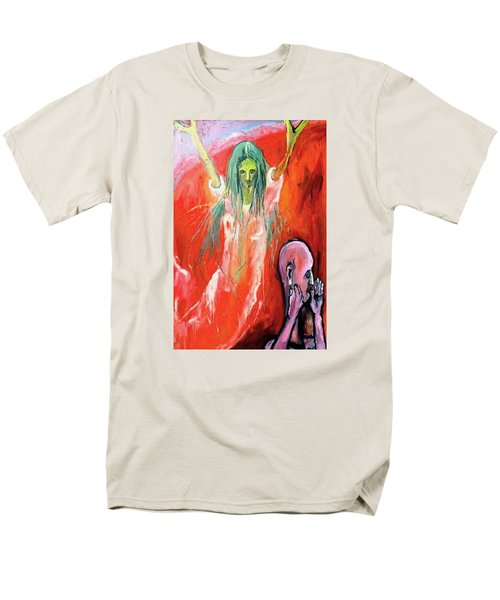 Men's T-Shirt  (Regular Fit) featuring the painting She-angel by Kenneth Agnello
