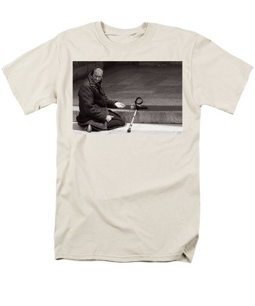 Men's T-Shirt  (Regular Fit) featuring the photograph She Begs At The Cathedral by Lorraine Devon Wilke