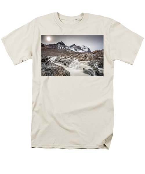 Silky Melt Water Of Athabasca Glacier Men's T-Shirt  (Regular Fit) by Pierre Leclerc Photography