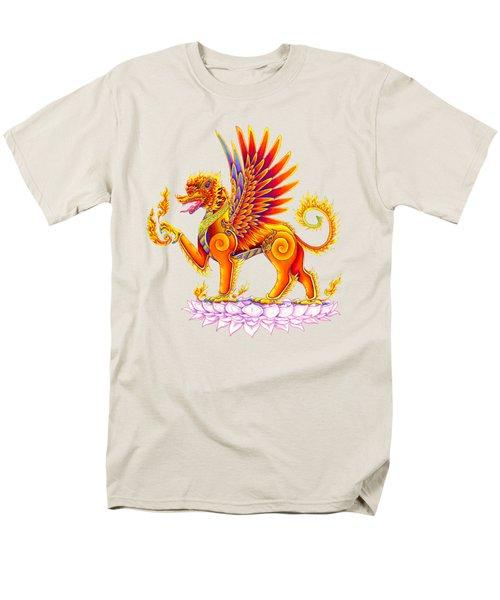 Singha Winged Lion Men's T-Shirt  (Regular Fit) by Rebecca Wang