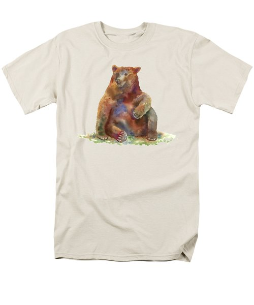 Sitting Bear Men's T-Shirt  (Regular Fit) by Amy Kirkpatrick