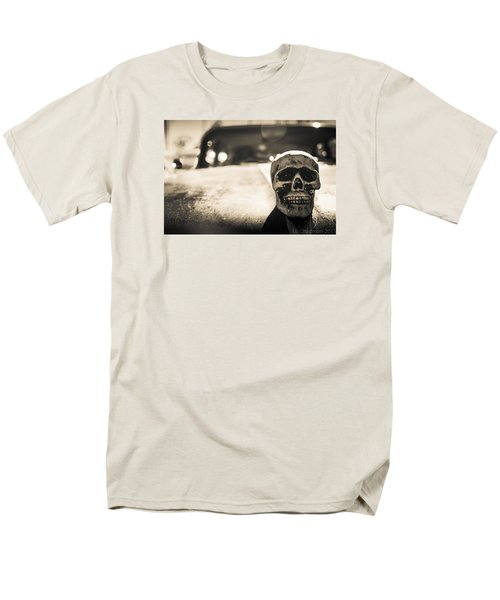 Men's T-Shirt  (Regular Fit) featuring the photograph Skull Car by Lora Lee Chapman