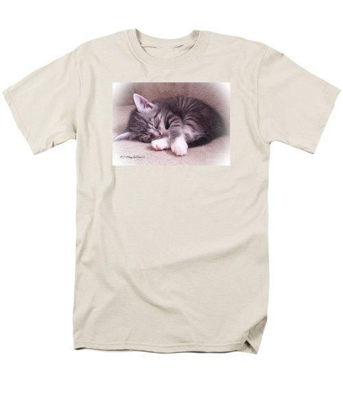 Sleepy Kitten Bymaryleeparker Men's T-Shirt  (Regular Fit) by MaryLee Parker