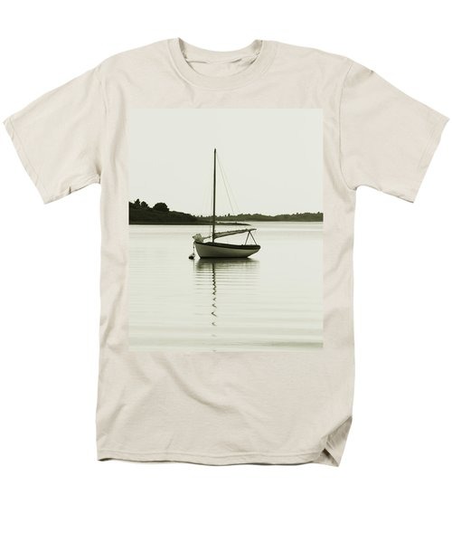 Sloop At Rest  Men's T-Shirt  (Regular Fit) by Roupen  Baker