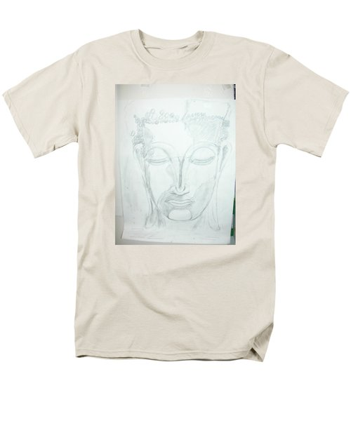 Men's T-Shirt  (Regular Fit) featuring the drawing Slumbering Buddha by Sharyn Winters
