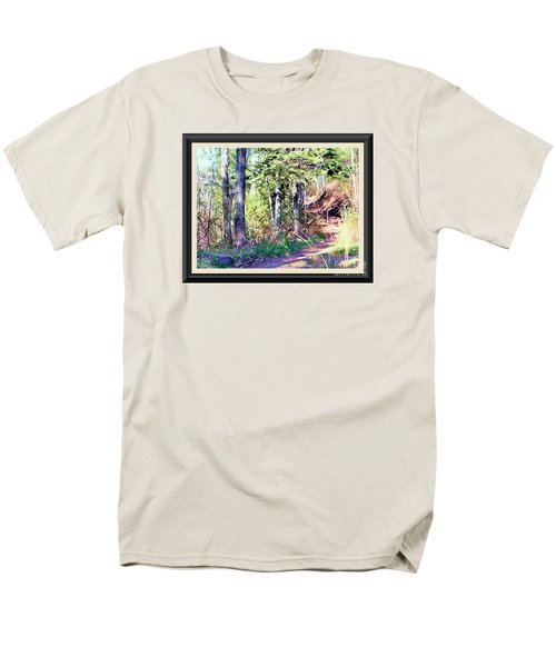 Small Park Scene Men's T-Shirt  (Regular Fit) by Shirley Moravec