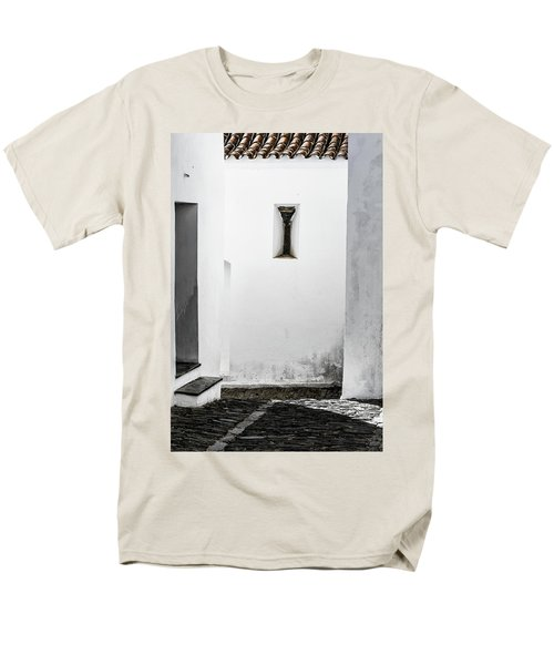 Men's T-Shirt  (Regular Fit) featuring the photograph Small Window In White Wall by Edgar Laureano