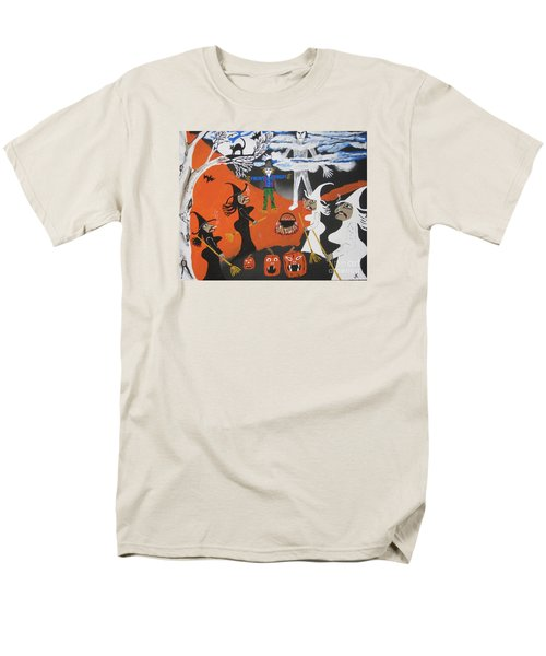 Men's T-Shirt  (Regular Fit) featuring the painting Smokey Halloween by Jeffrey Koss