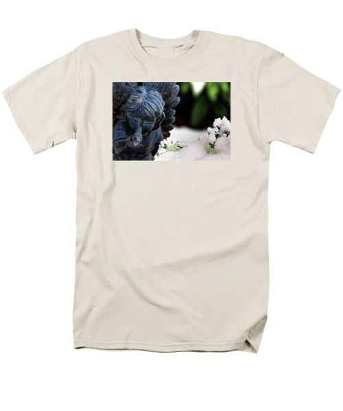 Men's T-Shirt  (Regular Fit) featuring the photograph Snow Angel Whisperer by Shelley Neff