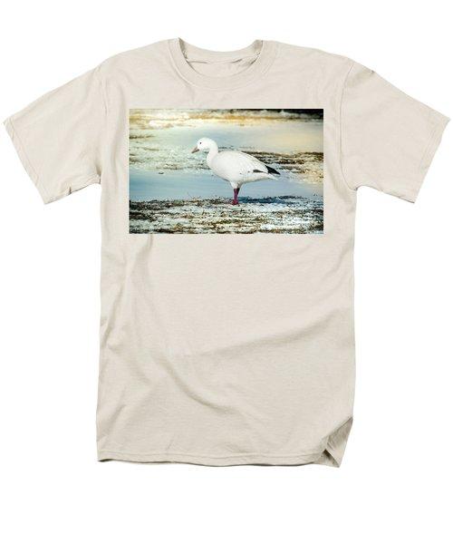 Snow Goose - Frozen Field Men's T-Shirt  (Regular Fit) by Robert Frederick