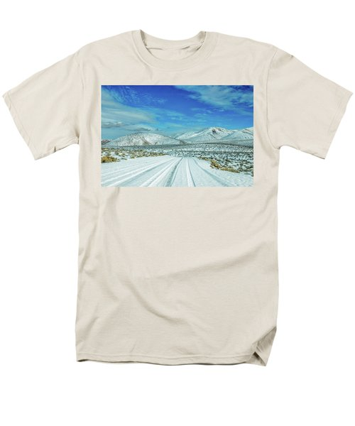 Men's T-Shirt  (Regular Fit) featuring the photograph Snow In Death Valley by Peter Tellone