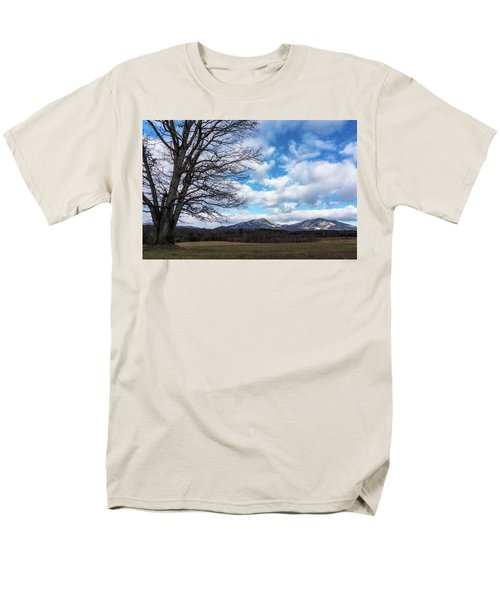 Snow In The High Mountains Men's T-Shirt  (Regular Fit) by Steve Hurt