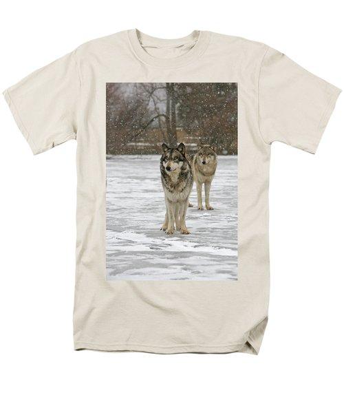 Snow Mates Men's T-Shirt  (Regular Fit) by Shari Jardina