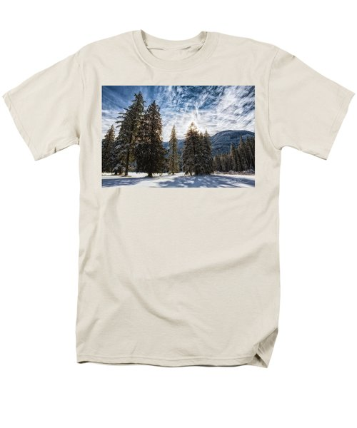 Snowy Clouds Men's T-Shirt  (Regular Fit) by Charlie Duncan