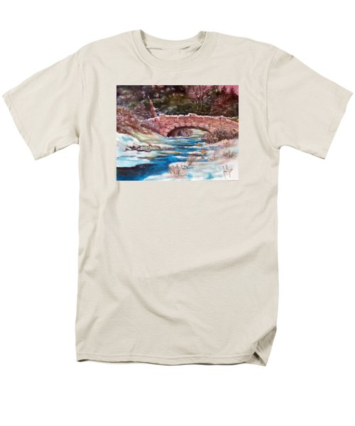 Snowy Creek Men's T-Shirt  (Regular Fit) by Jim Phillips