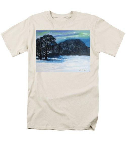 Snowy Moonlight Night Men's T-Shirt  (Regular Fit)