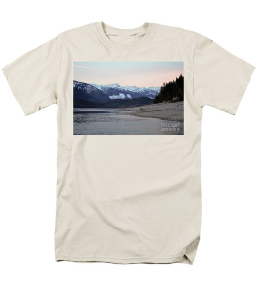 Men's T-Shirt  (Regular Fit) featuring the photograph Snowy Mountains by Victor K