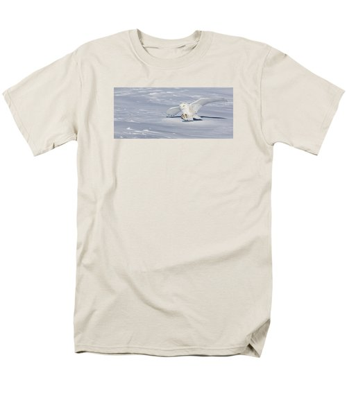 Snowy Owl Men's T-Shirt  (Regular Fit) by Dan Traun