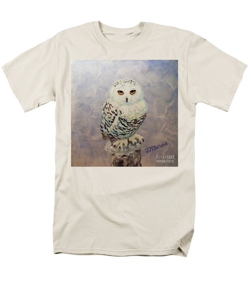 Snowy Owl Men's T-Shirt  (Regular Fit) by Janet McDonald