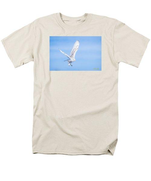 Snowy Owls Soaring Men's T-Shirt  (Regular Fit) by Rikk Flohr