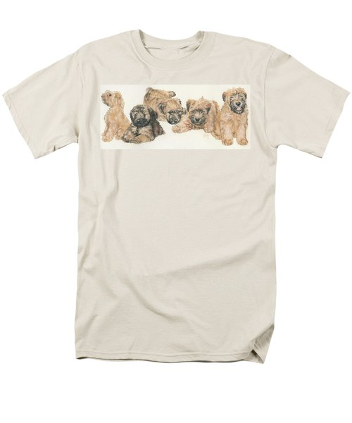 Soft-coated Wheaten Terrier Puppies Men's T-Shirt  (Regular Fit) by Barbara Keith