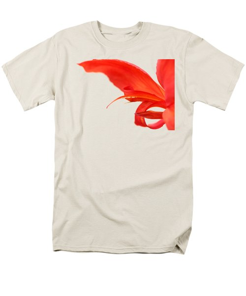 Softly Red Canna Lily Men's T-Shirt  (Regular Fit) by Debbie Oppermann