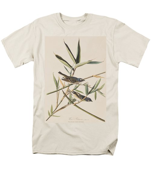 Solitary Flycatcher Or Vireo Men's T-Shirt  (Regular Fit) by John James Audubon