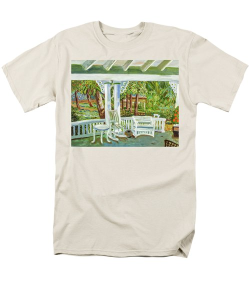 Southern Porches Men's T-Shirt  (Regular Fit) by Margaret Harmon